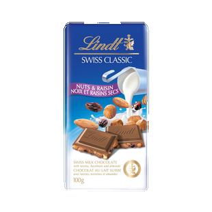 SWISS CLASSIC Молочный с орехами и изюмом 100г